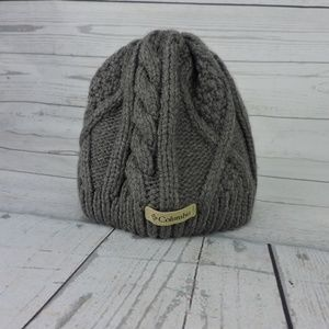 Columbia Youth Knitted Lined Beanie Small Gray Hat